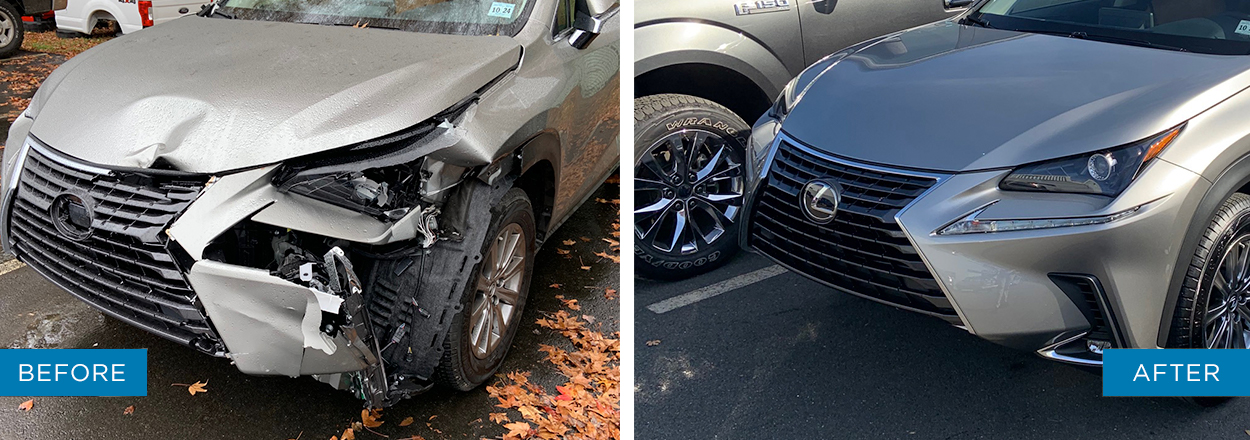 haldeman collision lexus before and after
